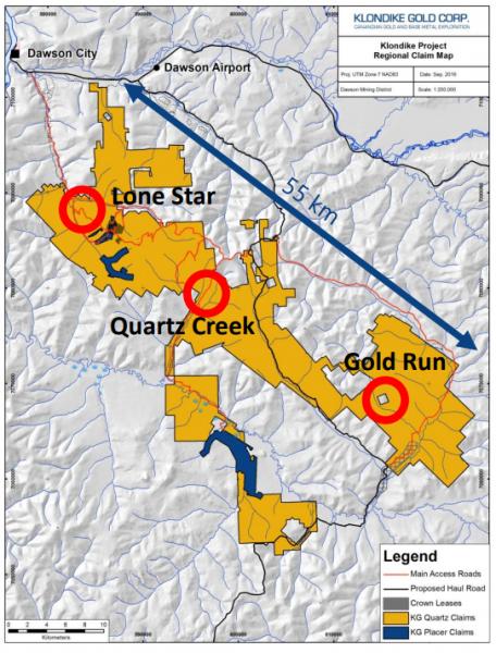 Klondike Gold Regional Claim Map